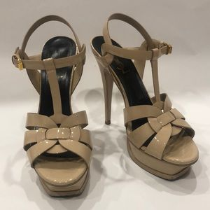 DISCOUNTED! SAINT LAURENT TRIBUTE NUDE SANDAL
